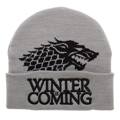 Bioworld Game of Thrones Winter is Coming Winter Hat Beanie, Grey, One Size