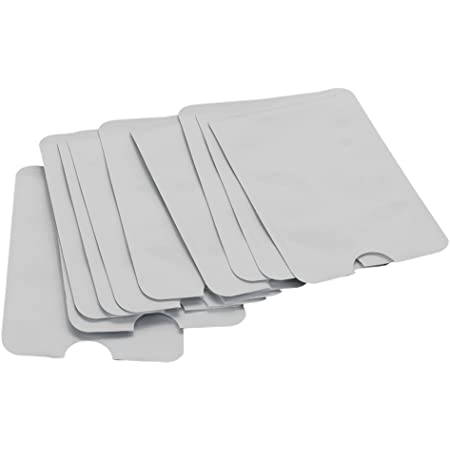 BQLZR Credit Card ID Anti Theft Blocking Sleeve Shield Secure Holder Pack of 10