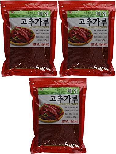 Tae-kyung Korean Red Chili Pepper Flakes Powder Gochugaru, 1 Lb…