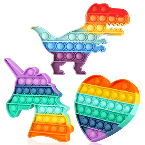Rainbow Fidget Toys Heart Sensory Toys Autism Learning Materials for Anxiety Stress Relief Squeeze...