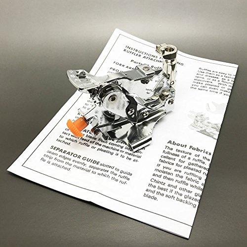 Austin Ruffler opzetvoet geschikt voor Bernina naaimachine, metaal, zilver, 17,3 x 9,2 x 5 cm