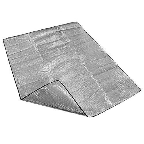 DC CLOUD Tapis De Plage Couverture De Plage Grande Plage De Couverture Compact Pique-Nique Couverture Silver,M