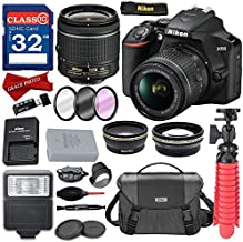 $399 » Nikon D3500 DSLR Camera with AF-P DX NIKKOR 18-55mm f/3.5-5.6G VR Lens + Nikon DSLR Camera Case and 32GB Memory Bundle