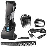 Sichler Men's Care Haarschneidemaschine: Akku-Haar- & Bartschneider mit LCD-Display, 1 bis 30mm,...