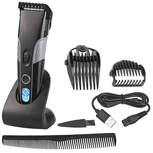 Sichler Men's Care Haarschneidemaschine: Akku-Haar- & Bartschneider mit LCD-Display, 1 bis 30mm, 60-Min.-Akku (Akku Haar und Bartschneideset)