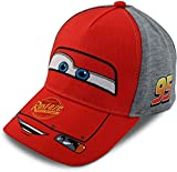 Disney Little Boys Cars Lightning McQueen Character Cotton Baseball Cap, Size Age 2-4, Cars Red W/Grey