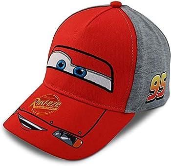 Disney Boys Cars Lightning McQueen Piston Cup Cotton Baseball Cap Size Age 2-4 Cars Red W/Grey