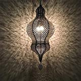 SILOLA Lámpara Colgante Marruecos Retro exótico Tallado a través de Luces LED de Techo Lámparas Colgantes posmodernas clásicas Lámpara Industrial Restaurante Cafe Hotel