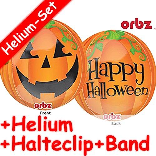 Folieballon set * Halloween + Helium vullen + klem + band * voor kinderverjaardag of themafeest // folies ballon helium decoratie ballongas