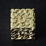 Endless Salvation (Bright Gold) D6 Dice Celtic Knots Solid Metal Extra Large & Heavy for DND Dungeons and Dragon Call of Cthulhu Pathfinder Warhammer 40k Polyhedral Dice Paladin Dice Cleric Dice