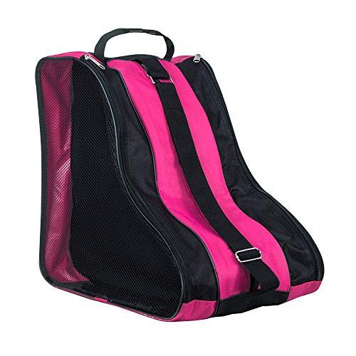 SENDILI Schlittschuhe Tasche - Rollschuhe Tasche Wasserabweisend Ice Skate Tasche Bag Unisex Kinder und Erwachsene Rosa