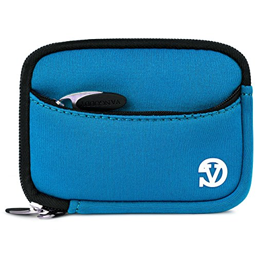 VanGoddy Mini Glove Sleeve Pouch Case for Canon PowerShot SX600 HS, SX210 is, SX200 is Point and Shoot Digital Cameras (Sky Blue)