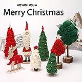 ZJSDN Decorazioni Natalizie ins Nordico Vecchio Ornamenti in Legno Lana, Feltro di Colore Palmo di Natale Tavole Tavolo Decorazione Cerimonia