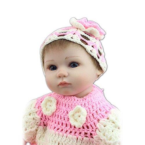 GAW Toys Reborn Pflege Puppe aus Weichem Silikon Pink Princess Babys 17\'\' Real suchen Baby Alive Puppe Kinder Spielzeug Kostenlos Handgefertigte Puppe Kleidung Zum Verkauf der Angst Hilfe Autismus