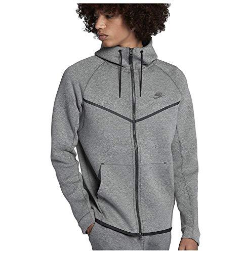 Nike 805144-091 Sweat à Capuche entièrement zippé Homme, Carbone chiné/Noir, FR (Taille...