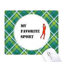 バランスバスケットボール 緑の格子のピクセルゴムのマウスパッド