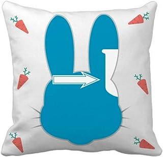 OFFbb-USA Grow Change Father Dad Future Rabbit - Funda cuadrada para almohada