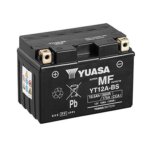 YUASA - Batería YT12A-BS Combipack (con electrolito)