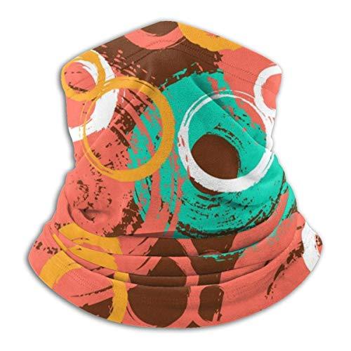 senob patroon met geschilderde cirkels en bubbels hoofddeksels nek Gaiter Warmer Winter Ski Tube Sjaal Masker Fleece Gezicht Cover aangepast