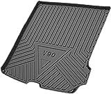 Vehículo de línea de carga trasera, Tronco bandeja estera del piso de la hoja de la bandeja de equipaje Alfombra impermeable for Vo-lv-o V90 2017 2018 2019 Placa de ajuste de arranque del trazador d