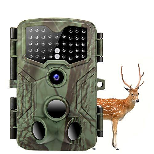 Wildkamera 16M & 1080p 2 TF LCD Nachtsichtkamera IP54 Wasserdichter Wildtierkamera Mit 40-Teiligen IR-LEDs Jagdkamera