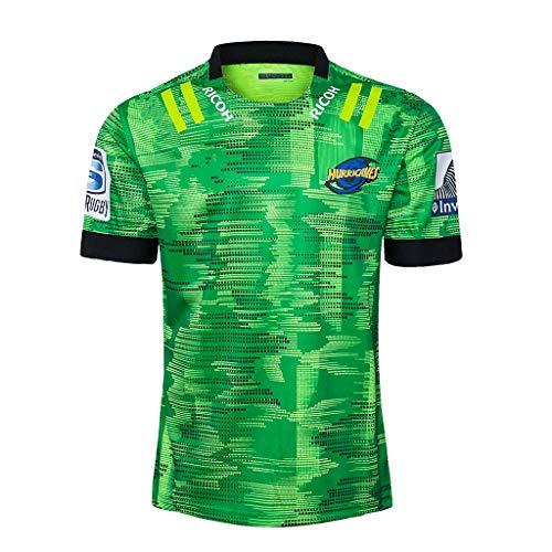 DDsports Wellington Hurricanes, Rugby-Trainings-Trikot II, 2020, New Fabric Embroidered, Swag Sportswear (Grün, 2XL)