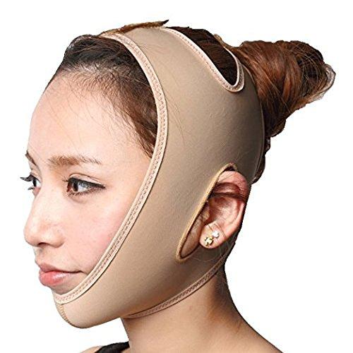 KOLIGHT Anti Wrinkle V Full Face Chin Cheek Lift up Slim Slimming Thin Mask Belt Band Strap (XL)