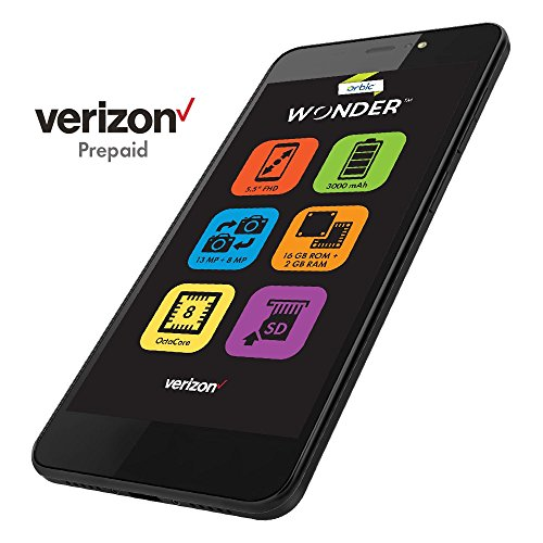 Orbic Wonder Prepaid Carrier Locked Device - 5.5' Screen - 16GB - Black (U.S. Warranty)