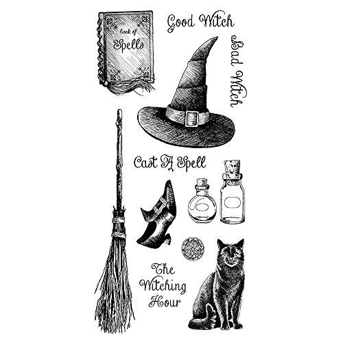 Inkadinkado Witching Hour Clear Set_60-31337 Stamp, Black & White
