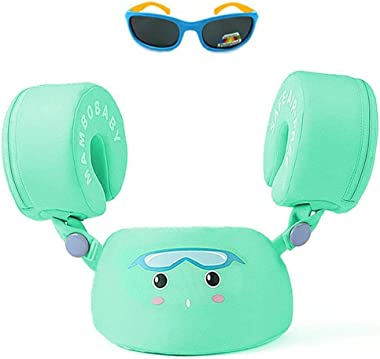 HECCEI Baby Swim Trainer Life Jacket for Kids Infant Swimming Water Float Ring Aid Vest with Arm Wings Non-Inflatable Toddler