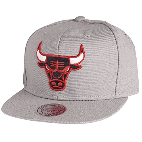 Mitchell & Ness Chicago Bulls Wool Solid Grey Snapback Cap NZ979 Kappe Basecap