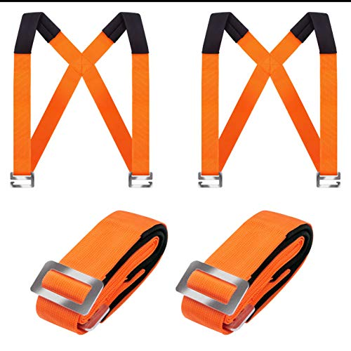 Bnbpro Moving Straps, Lifting & Shoulder 2-Person System - Move Free for Lift, Carry,Moving Furniture, Appliances, Mattresses, Heavy Object Without Back Pain.Great Tool for Moving