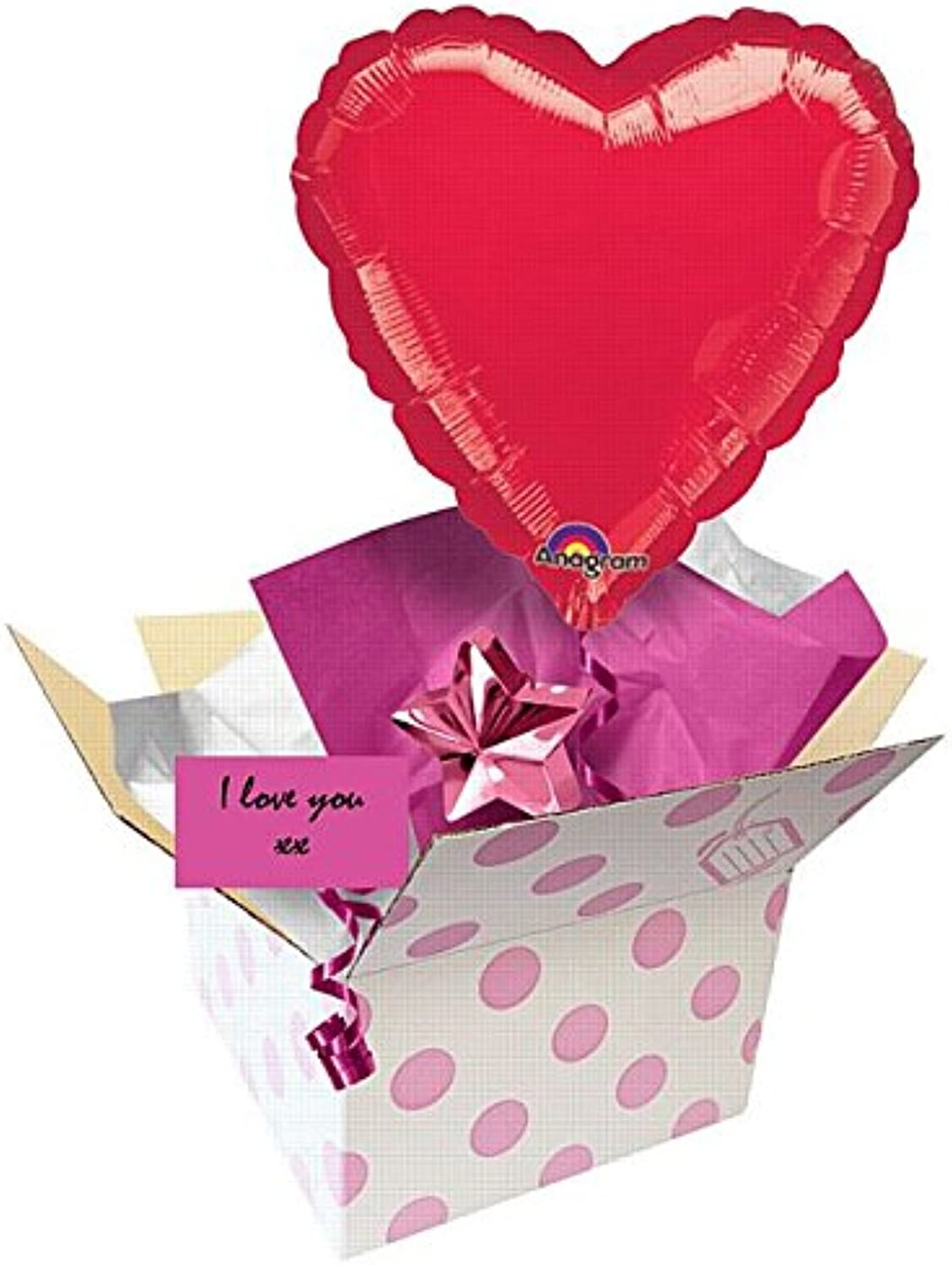 Zuffahome Balloon In A Box  Red Heart 18