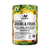 Bigmuscles Nutrition Superfood Greens & Fruits 20 Servings | Original Flavour | Organic Spirulina & Wheat Grass - Whole Food Vitamins from Fruit & Vegetable Extracts | Best Supplement to Boost Energy, Detox, Enhance Health | Vegan
