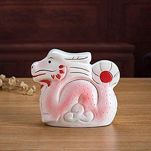 LPQA Home Accessories Sculpture Statue Ceramic Dragon Animal Piggy Bank Decoration Home Children S Room Decoration Birthday Gift
