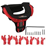 RIDBIKER Motocross Neck Brace for Adult Motorcycle Cycling Protector Guard Off-Road Riding Body Protection Gears (Black&Red)