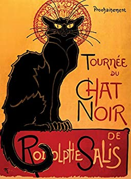 PalaceLearning Tournée du Chat Noir by Theophile Alexandre Steinlen - 1896 - The Black Cat - Vintage Poster Print  Laminated 18  x 24