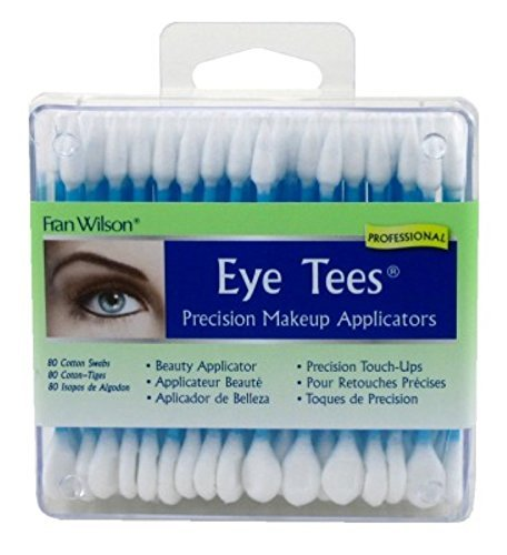 Fran Wilson EYE TEES COTTON TIPS 80 Count (2 PACK) - Precision Makeup Applicator, Double-sided Swabs with Pointed and Rounded Ends for Perfect Blending, Effective Cleaning and Precise Touch-ups