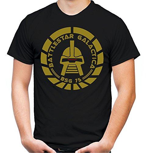 Battlestar Galactica Männer und Herren T-Shirt | Spruch Vintage Cylon Geschenk | M2 (L, Schwarz)