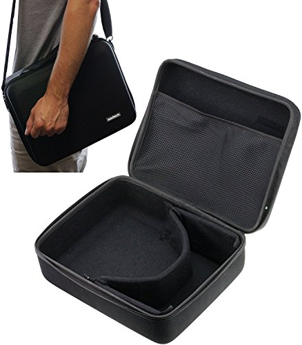 Navitech Black Heavy Duty Rugged Hard Case/Cover with Shoulder Strap Compatible with The ONN White Virtual Reality VR