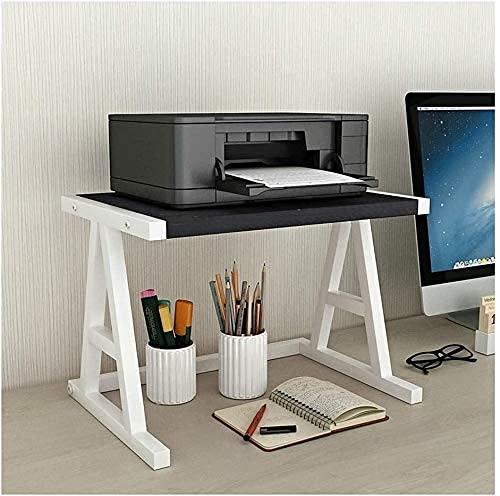 AERVEAL Printer Desktop Stands Desktop Stand for Printer Desktop Shelf for Space Organizer Storage Shelf, Book Shelf, Double Tier Tray for Mini 3D Printer Printer Stands (Color : Black-C),White-B