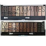 Technic Set de paleta de sombras de ojos Mega & Matte Nudes Beige,Negro y Brown