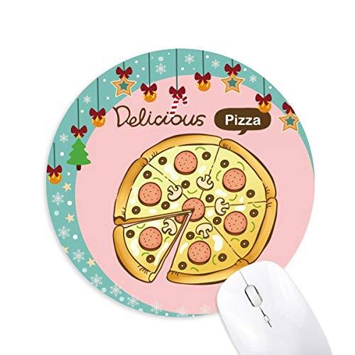 Würstchen Pilz Pizza Italien Lebensmittel Maus Pad Jingling Bell Round Rubber Mat