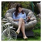 Cuscineria esterna per Patio Sedie Addensare Cuscino per sedie d'uovo appeso rotondo, cuscino per sedia papasan per esterni per interni, sedile per oscillazione a hammock decorazioni per mobili per pa