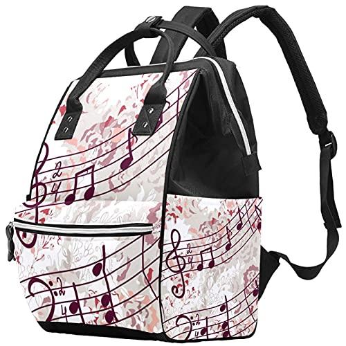 Yuelai Windel Tasche Rucksack Laptop Rucksack Travel Daypack für Damen, Musikanlage