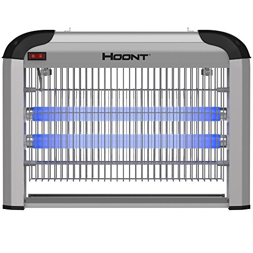 Hoont Powerful Electronic Indoor Bug Zapper – 20 Watts, Covers 6,000 Sq. Ft. / Fly Killer, Insect Killer, Mosquito Killer – for Residential, Commercial and Industrial Use