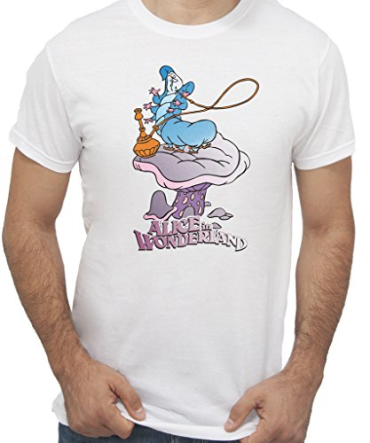 BRUCALIFFO Alice in Wonderland Anime e Videogames by Newindastria - Uomo-XXL-Bianca