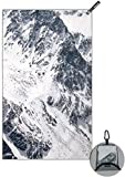 Snailman Microfiber Travel Towel , Compact Quick-Dry Camping Towel , Lightweight Outdoor Towel for Gym Sports Swim (Snow Mountain, M ( 18x30 inches ))