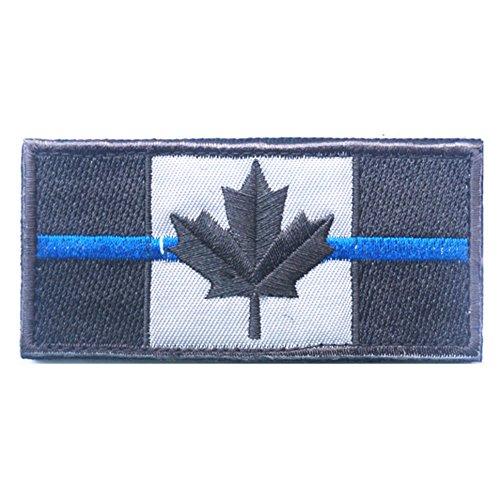 KingNew Parche línea fina bandera Canadá
