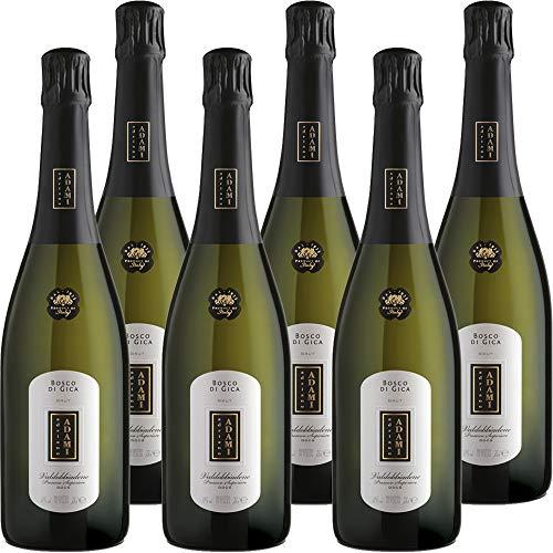 Prosecco Valdobbiadene Brut Superiore DOCG | Adami Bosco di Gica | Disponibile in Confezione da 6 e da 1 Bottiglia da 75 Cl | Idea Regalo (6)